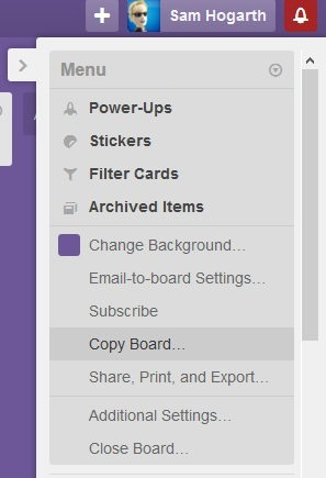 How to copy a board in Trello